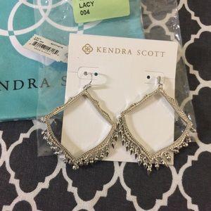 NWT & gift box Kendra Scott Silver Lacy Earrings